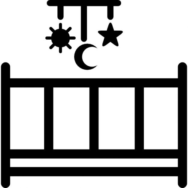 lit b b avec un jouet mobile avec des formes suspendus de soleil lune et toiles t l charger. Black Bedroom Furniture Sets. Home Design Ideas