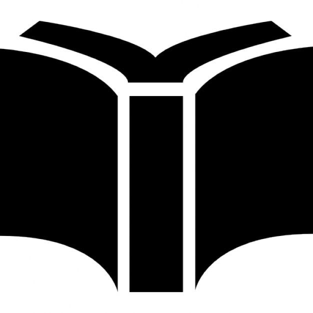 Fabuleux Livre de couverture noire ouverte vue de dos | Télécharger Icons  FB29
