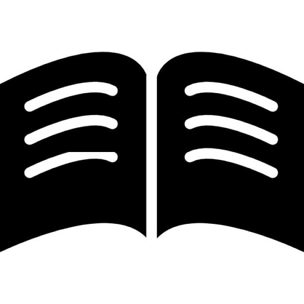 livre de pages en noir avec des lignes blanches de texte ouvert au milieu t l charger icons. Black Bedroom Furniture Sets. Home Design Ideas