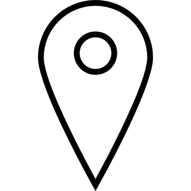 Localisateur, symbole ios 7 de l'interface Icon gratuit