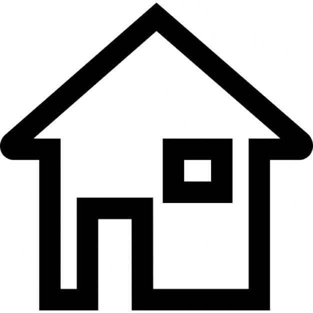 maison contour avec base blanche