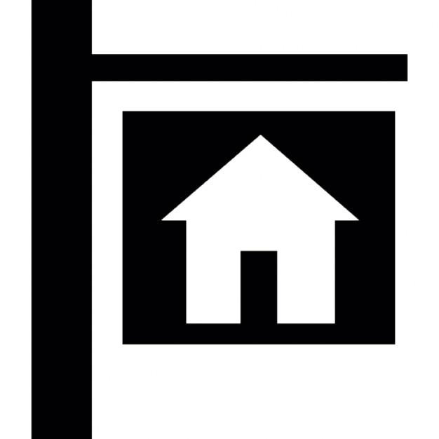 Maison pour le signal de louer ou vendre t l charger icons gratuitement - Vendre ou louer sa maison ...