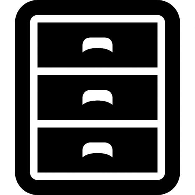 meuble trois tiroirs t l charger icons gratuitement. Black Bedroom Furniture Sets. Home Design Ideas