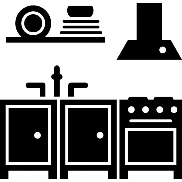 Kitchen Furniture Silhouette: Télécharger Icons Gratuitement