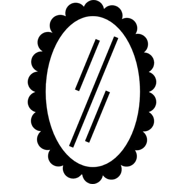 Miroir de forme ovale t l charger icons gratuitement for Forme miroir
