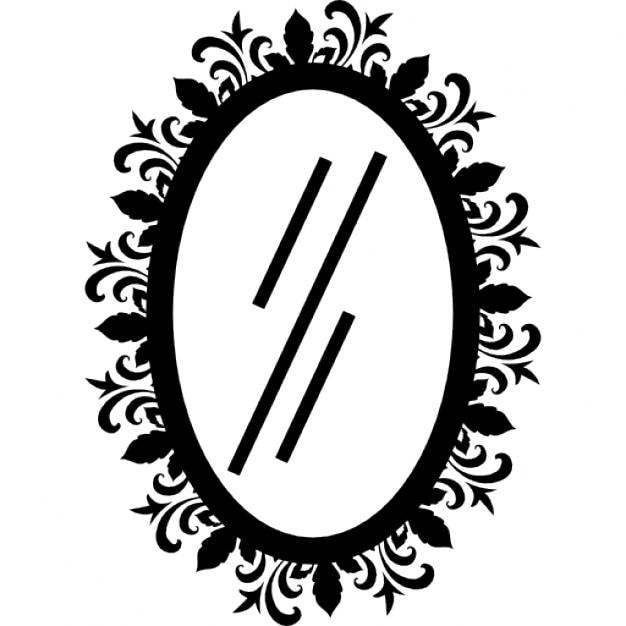 Miroir ovale de salon de coiffure t l charger icons for Salon de coiffure miroir