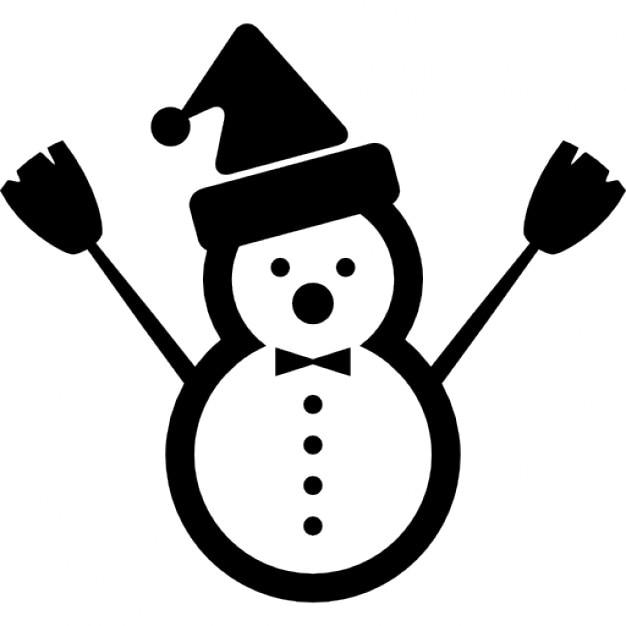 No l bonhomme de neige avec le p re no l chapeau - Chapeau bonhomme de neige ...