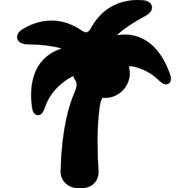 Noix de coco arbre silhouette t l charger icons gratuitement - Arbre noix de coco ...
