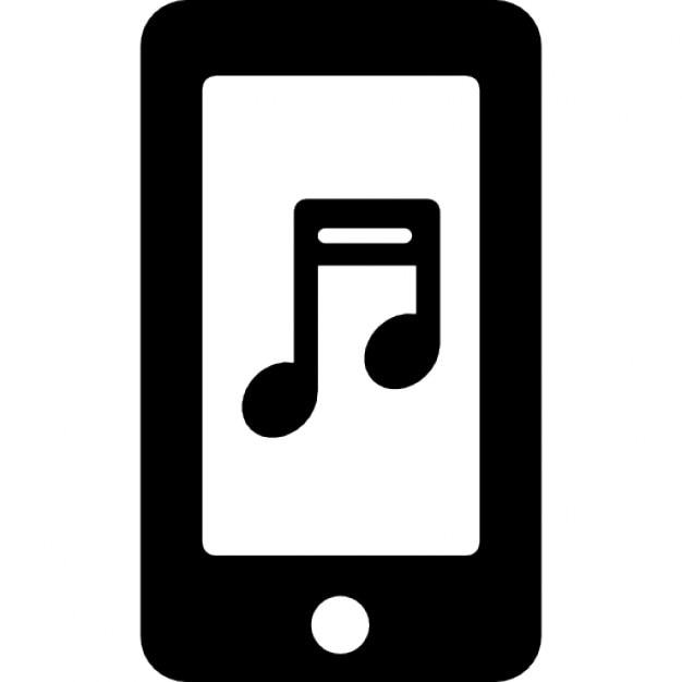 note de musique sur l 39 cran du t l phone t l charger icons gratuitement. Black Bedroom Furniture Sets. Home Design Ideas