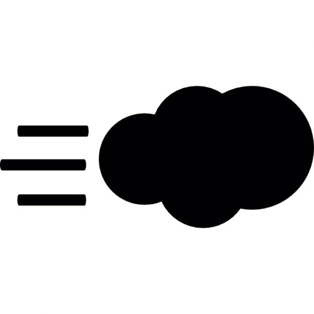 Nuage avec le vent symbole m t o t l charger icons - Nuage et vent ...