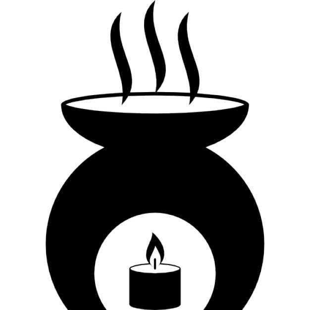 outil de l 39 aromath rapie avec un chauffage bougie huile de parfum br lant t l charger icons. Black Bedroom Furniture Sets. Home Design Ideas