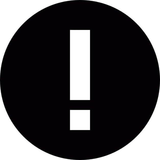 panneau d 39 avertissement avec point d 39 exclamation dans un cercle t l charger icons gratuitement. Black Bedroom Furniture Sets. Home Design Ideas
