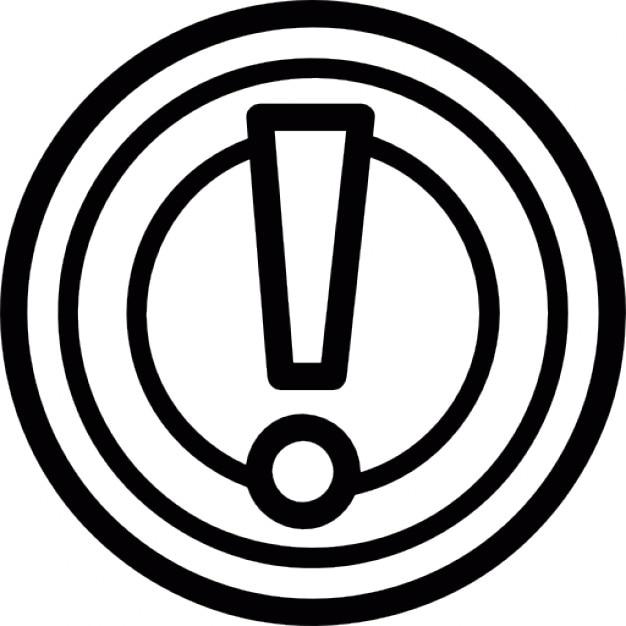 panneau d 39 avertissement point d 39 exclamation dans les milieux t l charger icons gratuitement. Black Bedroom Furniture Sets. Home Design Ideas