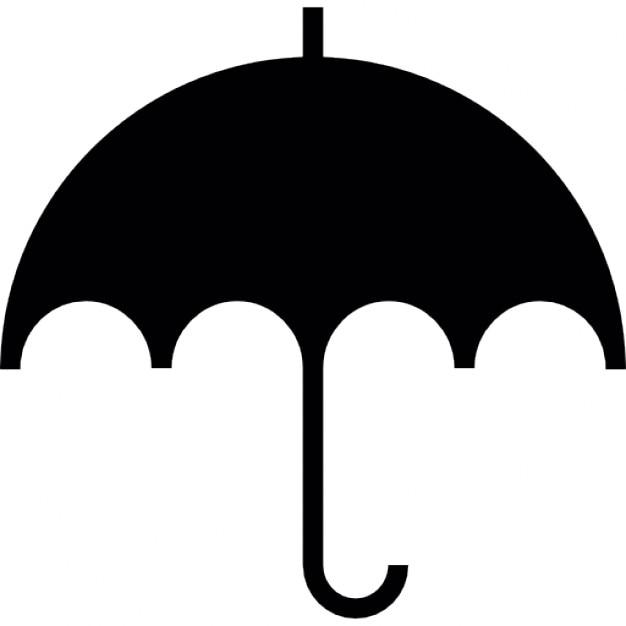 Parapluie en noir t l charger icons gratuitement - Parapluie dessin ...
