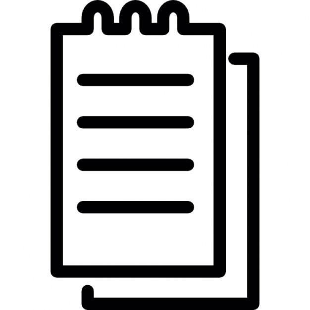 Petit bloc notes de printemps avec l 39 criture - Telecharger un bloc note pour le bureau ...