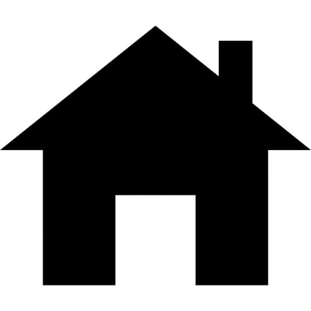 Petite maison avec chemin e silhouette t l charger icons for Petite maison luxueuse