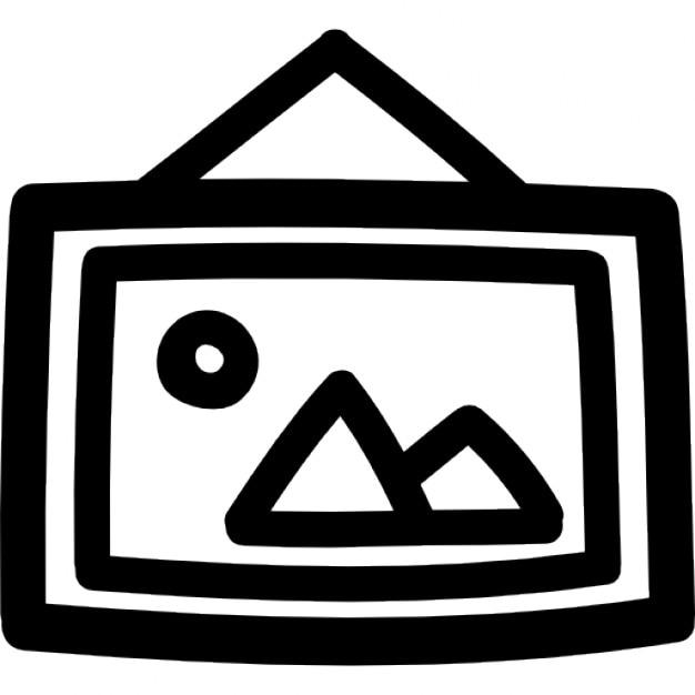 photo accroch e dans un symbole dessin cadre main t l charger icons gratuitement. Black Bedroom Furniture Sets. Home Design Ideas