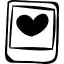 polaroid photo avec le coeur t l charger icons gratuitement. Black Bedroom Furniture Sets. Home Design Ideas