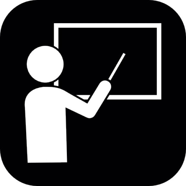 Professeur enseignant sur un tableau noir dans des formes - Ecrire sur un tableau noir ...