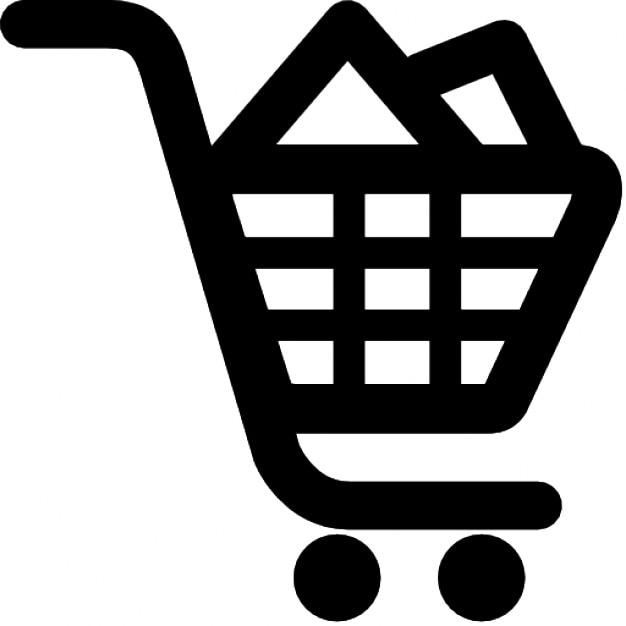 Remplir le panier. shoping en ligne Icons gratuit