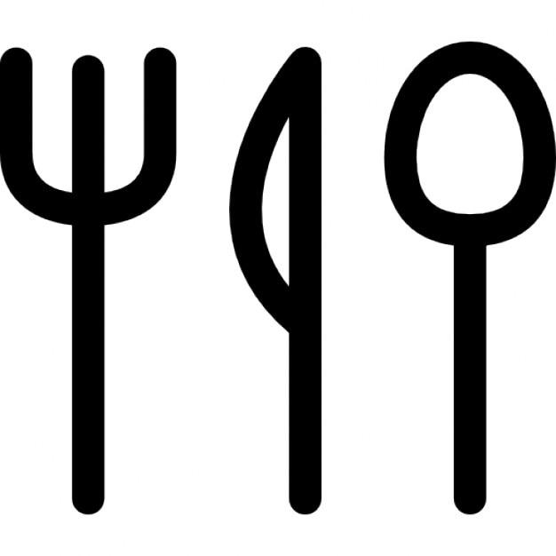 Restaurant symbole d 39 ustensiles t l charger icons for Ustensiles pour restaurant