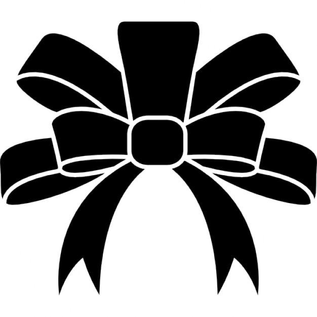 ruban forme l gante noire pour un cadeau de no l t l charger icons gratuitement. Black Bedroom Furniture Sets. Home Design Ideas