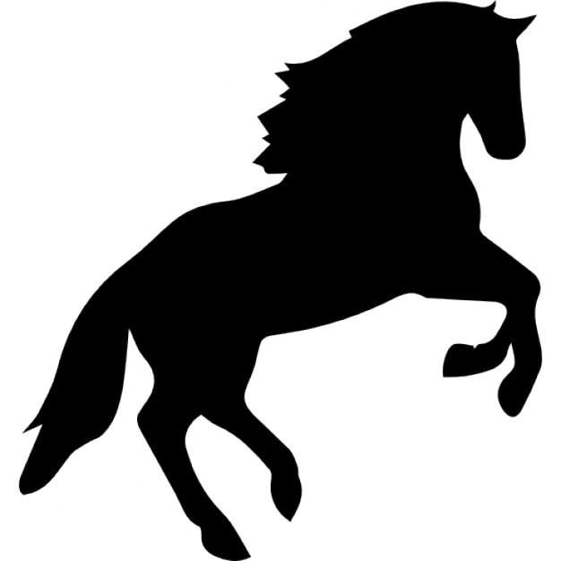 Saut cheval silhouette t l charger icons gratuitement - Clipart cheval gratuit ...