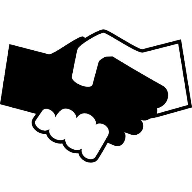 Se serrant la main en noir et blanc t l charger icons - Smiley en noir et blanc ...