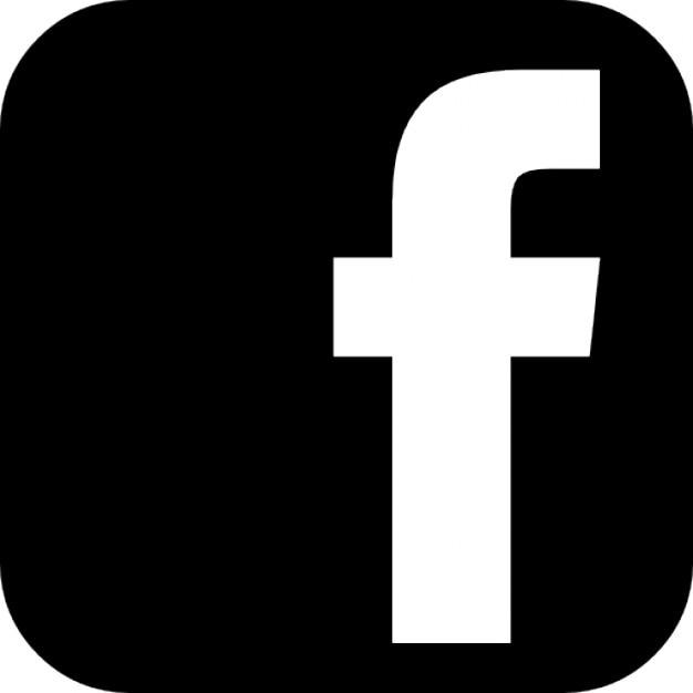 logo facebook nero