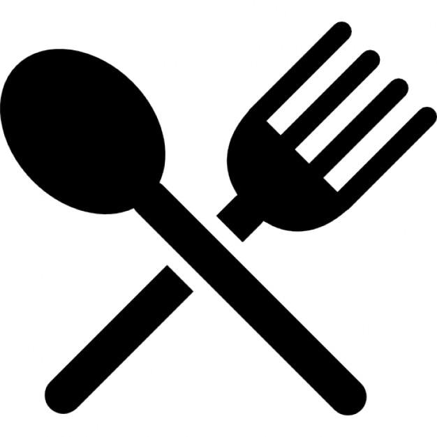 silhouette couverts d 39 un couteau et d 39 une croix de fourchette t l charger icons gratuitement. Black Bedroom Furniture Sets. Home Design Ideas