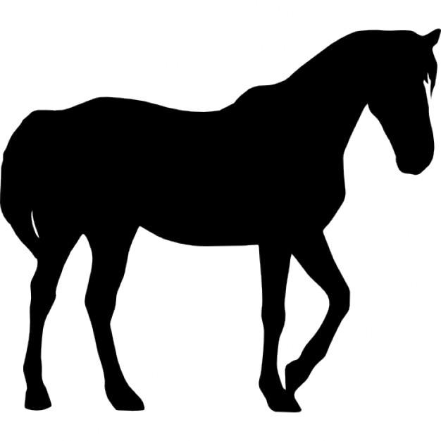 Silhouette de cheval noir t l charger icons gratuitement - Clipart cheval gratuit ...