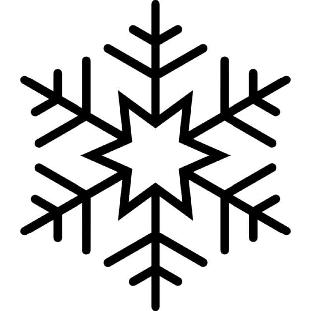Favori Six branches flocon de neige étoile | Télécharger Icons gratuitement OQ02