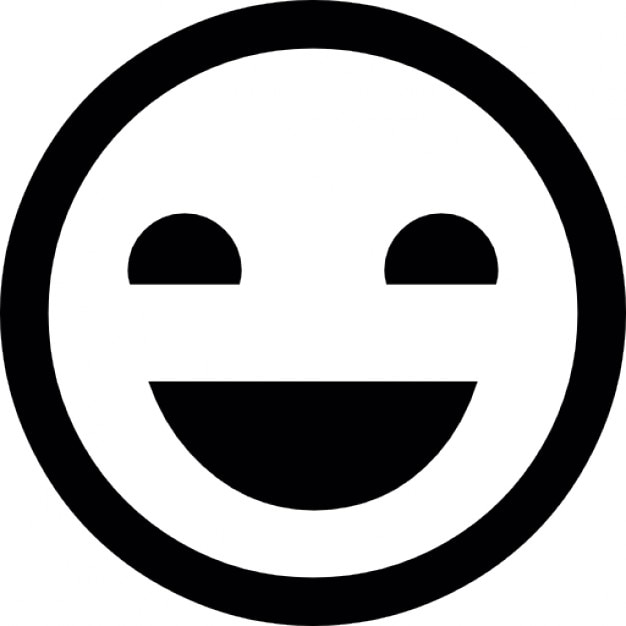 Smiley heureux t l charger icons gratuitement - Smiley simple noir et blanc ...