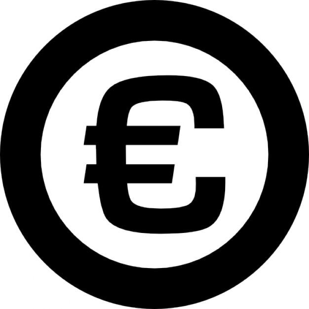 symbole de l 39 euro dans un cercle t l charger icons gratuitement. Black Bedroom Furniture Sets. Home Design Ideas