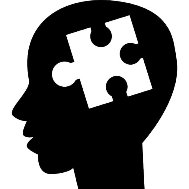 Symbole de la pi ce de puzzle l 39 int rieur de la t te de - Symbole tete de mort ...