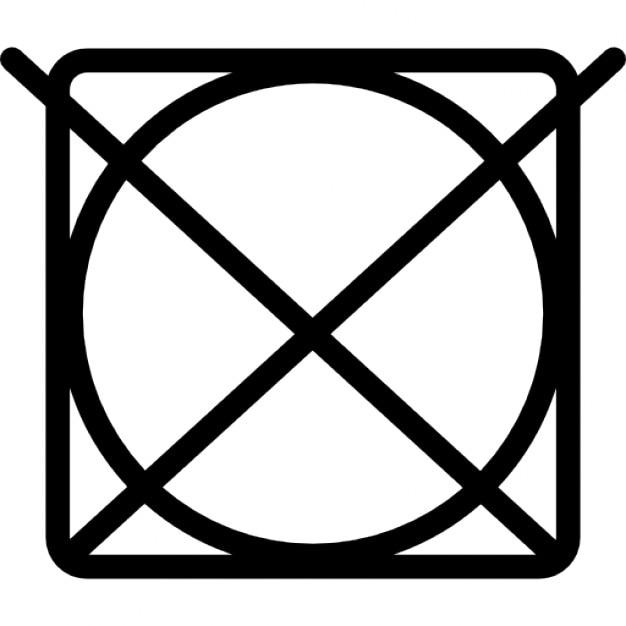 symbole de lavage d 39 une croix sur un cercle dans un carr t l charger icons gratuitement. Black Bedroom Furniture Sets. Home Design Ideas