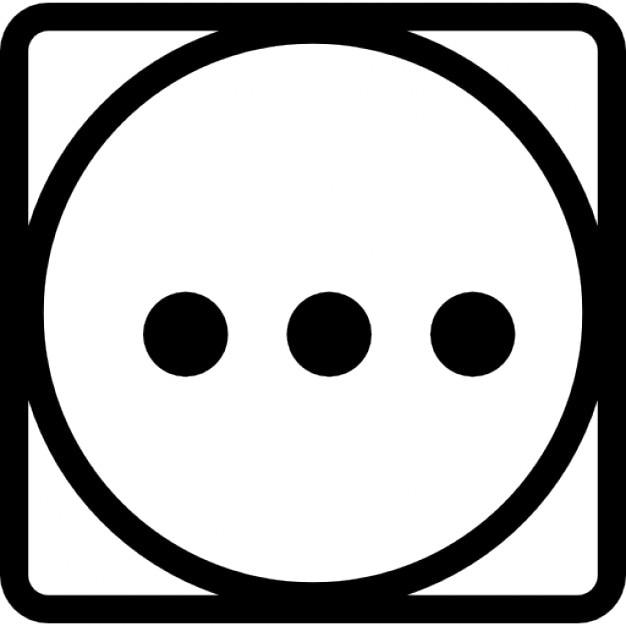 symbole de lavage de trois points dans un cercle dans un carr t l charger icons gratuitement. Black Bedroom Furniture Sets. Home Design Ideas