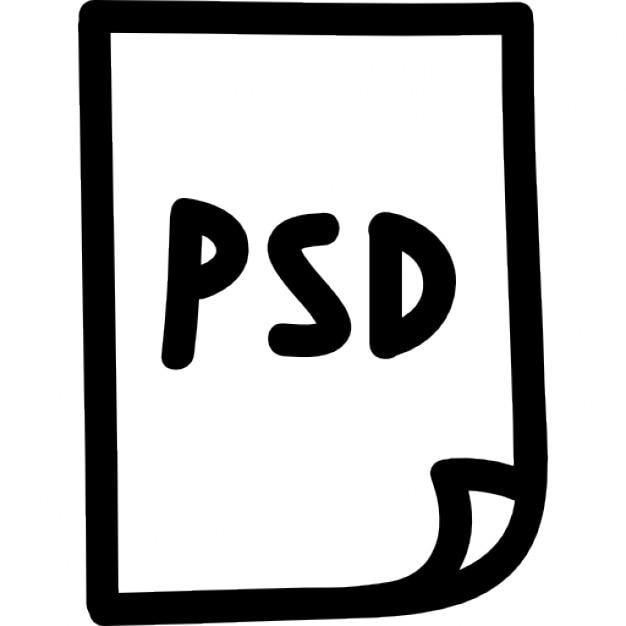 symbole dessin u00e9 fichier photoshop psd main