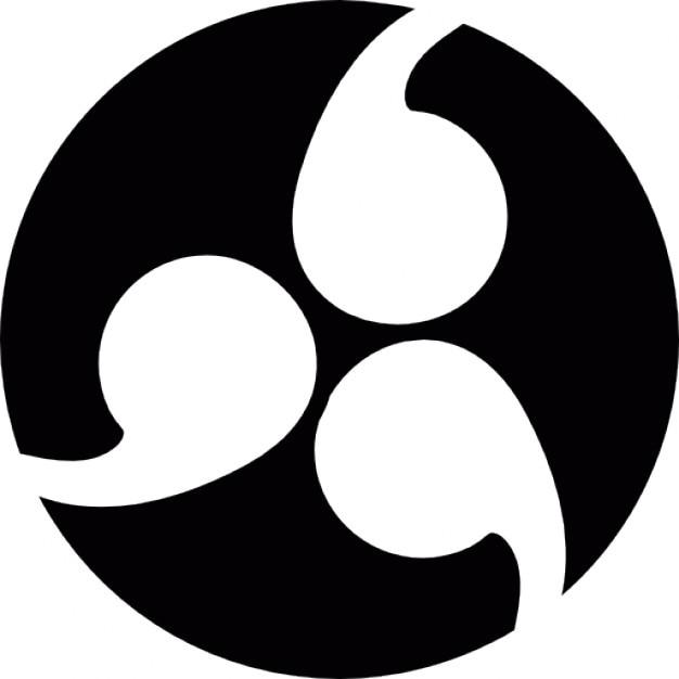 Populaire Symbole japonais de crête de famille de Kamon | Télécharger Icons  PW86