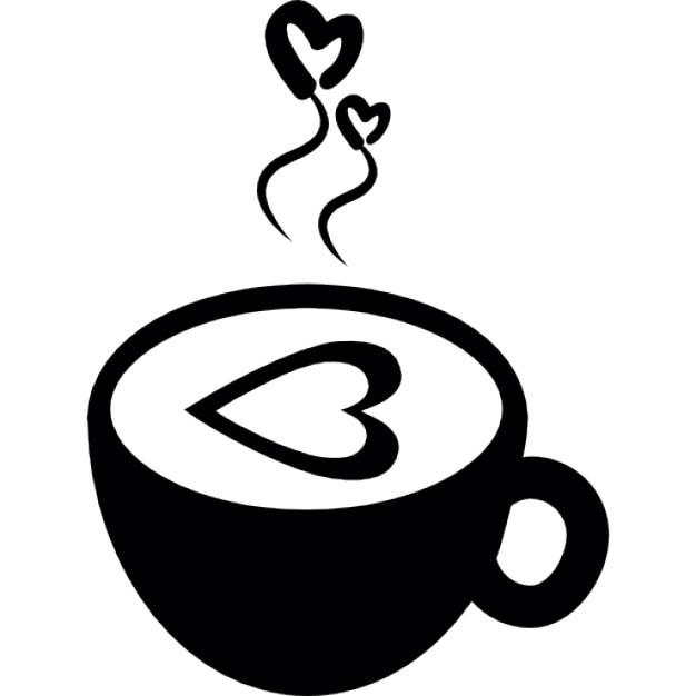 Tasse de caf chaud avec des coeurs d 39 amour t l charger - Tasse a cafe avec support ...