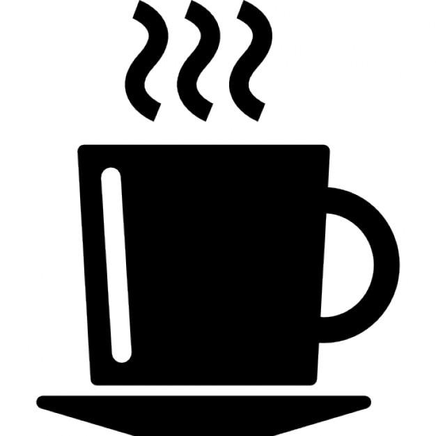 Tasse de café chaud sur une plaque  Télécharger Icons