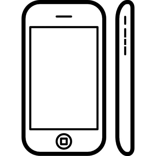 t l phone mobile mod le populaire iphone d 39 apple 3 sur le c t et vue de face t l charger. Black Bedroom Furniture Sets. Home Design Ideas