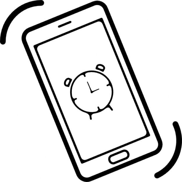 t l phone mobile sonne l 39 alarme t l charger icons gratuitement. Black Bedroom Furniture Sets. Home Design Ideas
