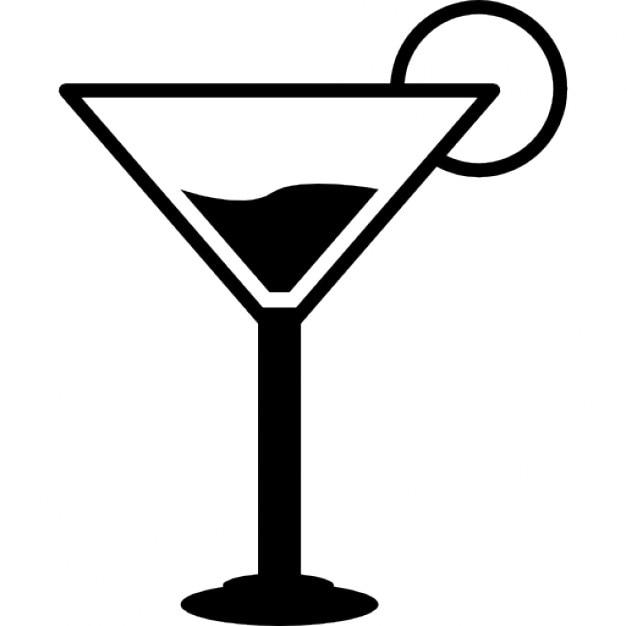 verre martini vector
