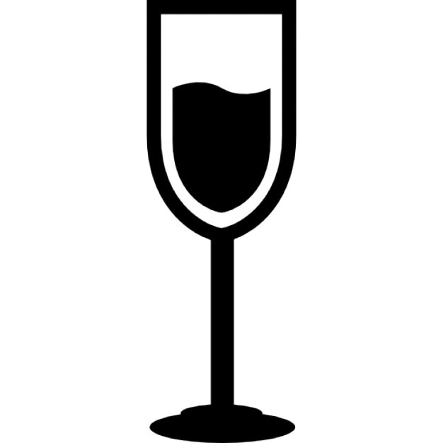 Verre de champagne avec une boisson t l charger icons - Boire une coupe de champagne enceinte ...