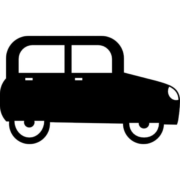 voiture compacte vue de c t t l charger icons gratuitement. Black Bedroom Furniture Sets. Home Design Ideas