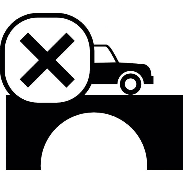 voiture traversant un pont avec la marque croix t l charger icons gratuitement. Black Bedroom Furniture Sets. Home Design Ideas