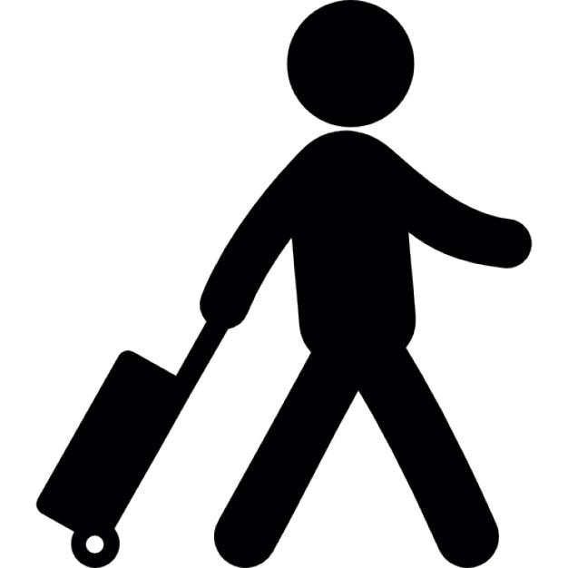 Voyageur avec une valise t l charger icons gratuitement - Voyageur dessin ...