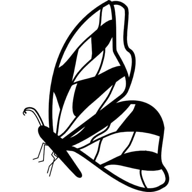 vue de c t de papillon avec la conception d 39 ailes irr guliers t l charger icons gratuitement. Black Bedroom Furniture Sets. Home Design Ideas