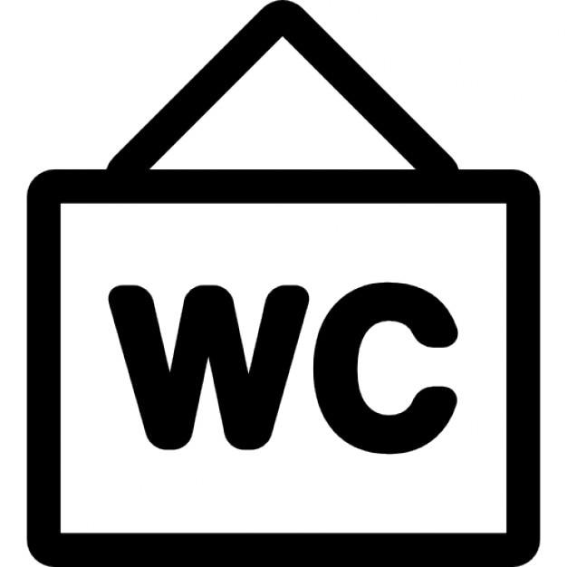wc signe suspendu t l charger icons gratuitement. Black Bedroom Furniture Sets. Home Design Ideas